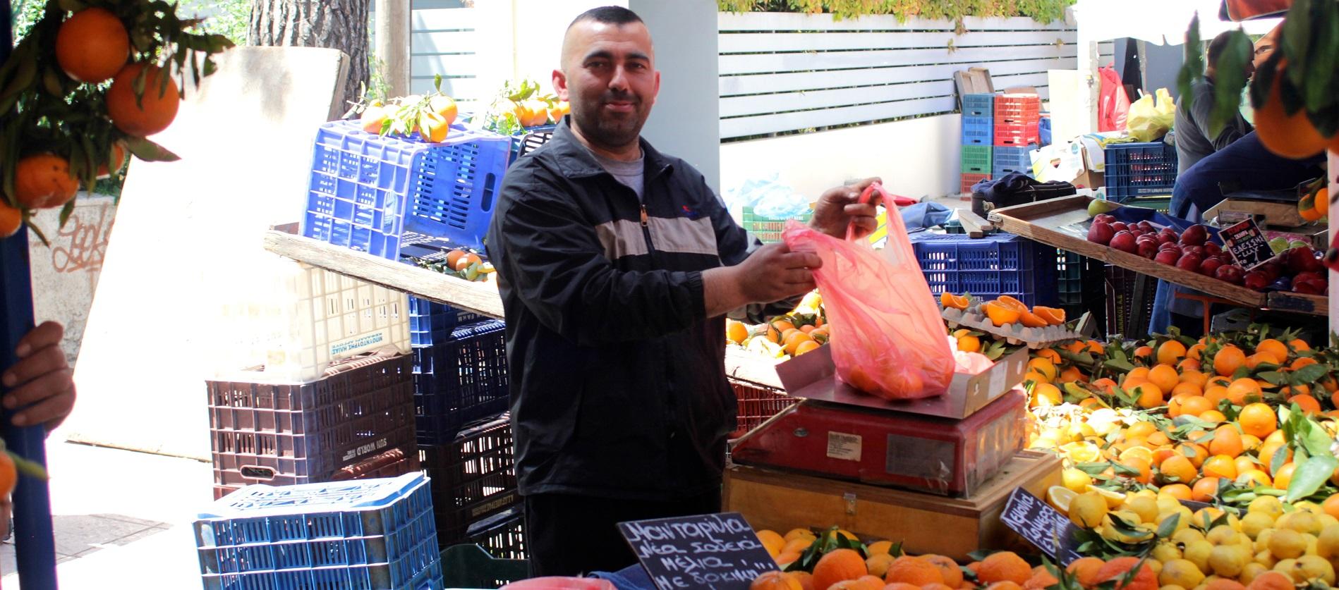Oranges Greek market