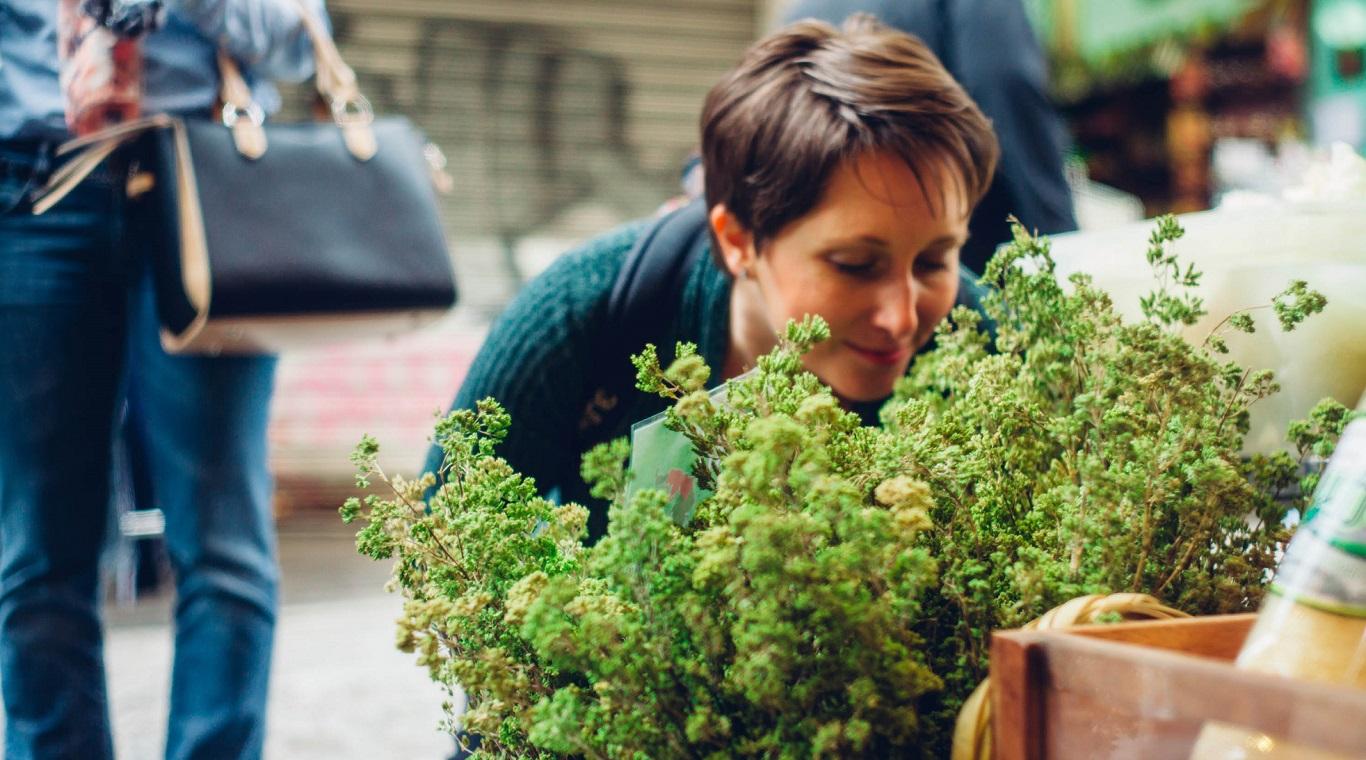 Athens market herbs